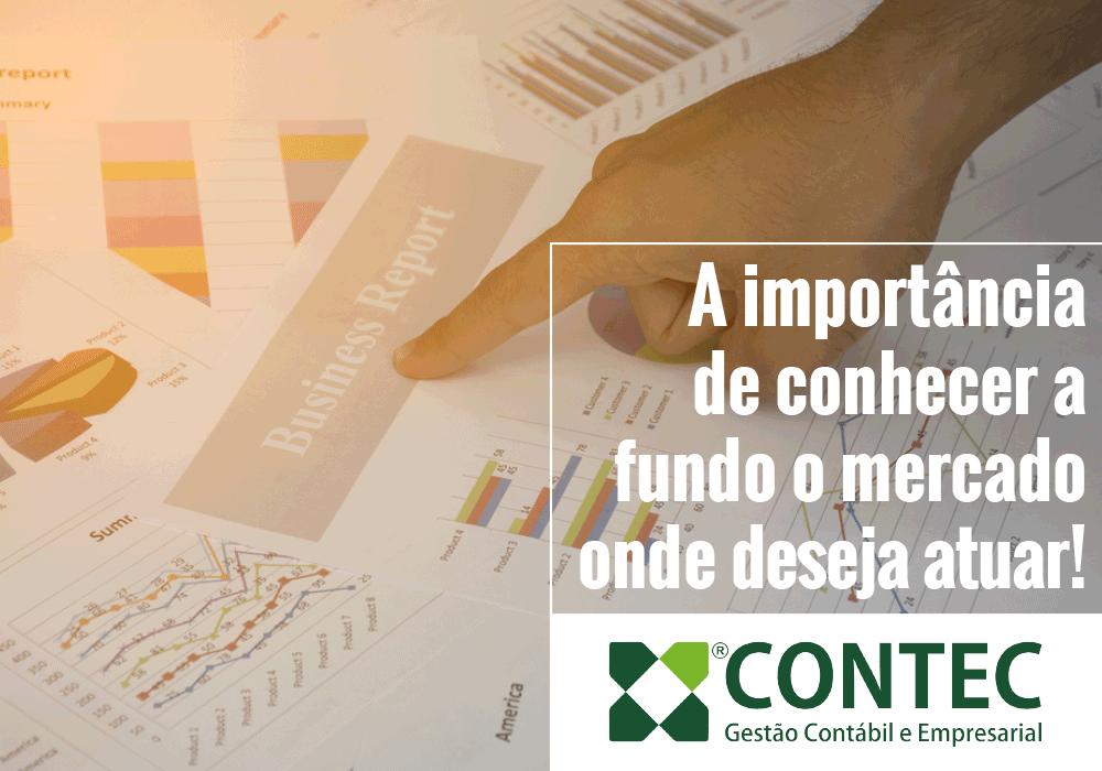 A Importância De Conhecer A Fundo O Mercado Onde Deseja Atuar!